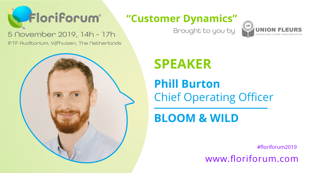 Floriforum speaker announced: Phill Burton, Bloom & Wild