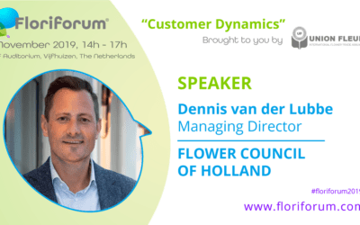 Floriforum speaker announced: Dennis van der Lubbe, Flower Council of Holland