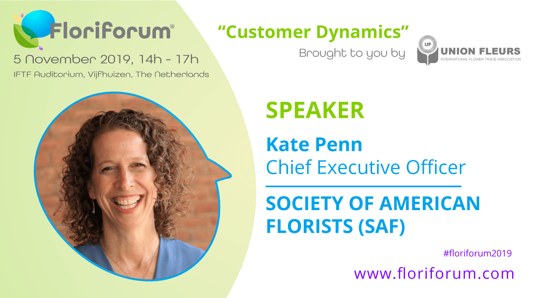 Floriforum speaker announced: Kate Penn, Society of American Florists (SAF)